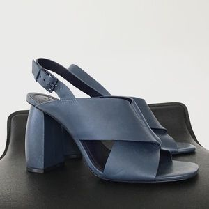 MERCEDES CASTILLO HAE blue leather heels 8 Brazil